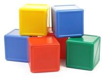Gekleurde kubussen Royalty-vrije Stock Afbeelding