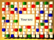 Gekleurde kubussen Stock Fotografie