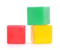 Gekleurde kubussen Stock Foto's