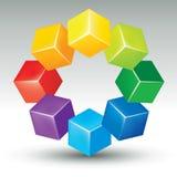 Gekleurde kubussen Royalty-vrije Stock Foto's