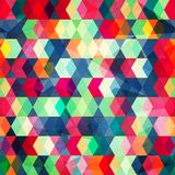 Gekleurde kubussen naadloos met grungreffect Stock Foto