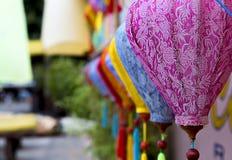 Gekleurde lantaarns van Azië royalty-vrije stock afbeelding