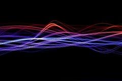 Gekleurde lichte golven Royalty-vrije Stock Foto's