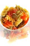 Gekleurde macaroni Stock Afbeeldingen