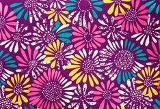 Gekleurde madeliefjesstof Royalty-vrije Stock Foto