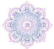 Gekleurde mandala - Boeddhisme - meditatie, ontspanning Stock Fotografie