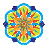 Gekleurde Mandala Compass royalty-vrije stock foto's