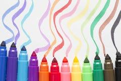 Gekleurde markeerstift Stock Foto's