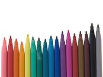 Gekleurde markeerstift Royalty-vrije Stock Afbeeldingen