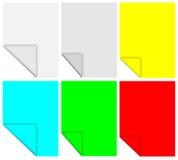 Gekleurde memoranda stock illustratie