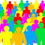 Gekleurde menselijke cijfers stock illustratie