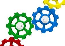 Gekleurde met elkaar verbindende toestellen royalty-vrije illustratie