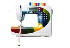 Gekleurde moderne naaimachine Stock Foto