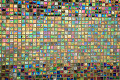 Gekleurde mozaïekvierkanten stock fotografie