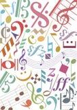 Gekleurde muzieknota's Royalty-vrije Stock Foto