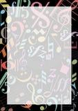 gekleurde muzieknota's royalty-vrije illustratie