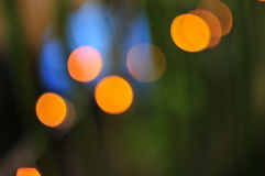 Gekleurde neonlichten Stock Foto