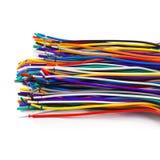 Gekleurde netwerkdraden die op witte achtergrond worden geïsoleerde Royalty-vrije Stock Afbeeldingen