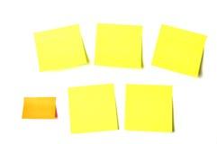 Gekleurde nota's kleverige documenten Stock Foto's