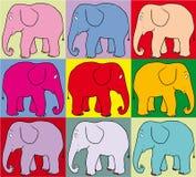 Gekleurde olifanten Royalty-vrije Stock Afbeelding