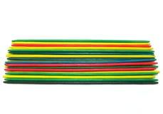 Gekleurde oogst-omhoog-stokken Royalty-vrije Stock Fotografie