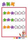 Gekleurde opeenvolging, sterren vector illustratie