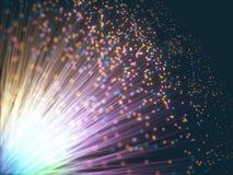 Gekleurde Optische Vezel royalty-vrije illustratie