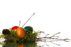 Gekleurde paaseieren Stock Fotografie