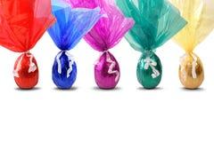 Gekleurde paaseieren stock foto