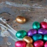 Gekleurde paaseieren Royalty-vrije Stock Afbeeldingen
