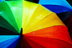 Gekleurde paraplu's Royalty-vrije Stock Afbeeldingen