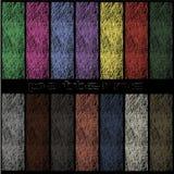 Gekleurde patronen in de vorm van draad Royalty-vrije Stock Afbeelding