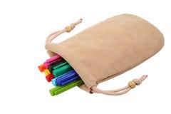 Gekleurde pen in de zak Royalty-vrije Stock Afbeeldingen