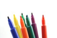 Gekleurde Pennen Stock Afbeeldingen