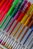 Gekleurde pennen 15 Stock Foto