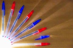 Gekleurde Pennen royalty-vrije stock afbeelding