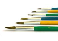 Gekleurde penselen stock afbeeldingen