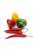 Gekleurde peper royalty-vrije stock foto's