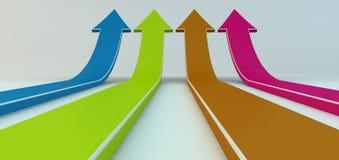 Gekleurde pijlen Stock Afbeeldingen