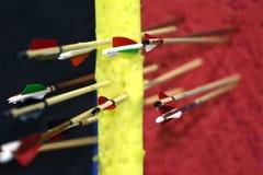 Gekleurde pijlen in doel Royalty-vrije Stock Afbeelding