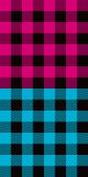 Gekleurde plaid Royalty-vrije Stock Afbeeldingen