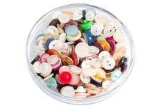 Gekleurde plastic oude knopen Royalty-vrije Stock Fotografie