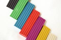 Gekleurde Plasticine Stock Fotografie