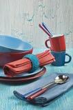 Gekleurde platen Stock Foto