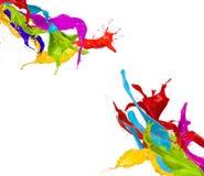 Gekleurde plonsen Stock Afbeeldingen