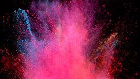 Gekleurde poederexplosie stock footage