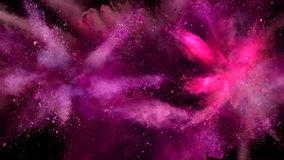 Gekleurde poederexplosie stock video