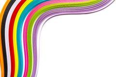 Gekleurde ponsband op een witte achtergrond Stock Fotografie