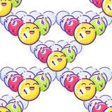 gekleurde poolballen Vlakke stijl met lange schaduwen Royalty-vrije Stock Foto