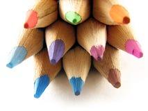 Gekleurde potloden stock afbeeldingen